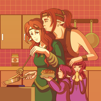 Anonymous Annatar: family picture by SmilingOfTheHealer