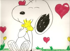 Snoopy Happy Valentines by pl3th0ra