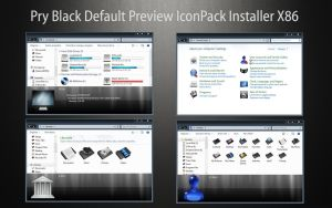 PryBlack iconPack Def Inst X86 by Mr-Ragnarok