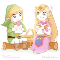 Gaming | Link and Zelda Picnic by PolishTamales