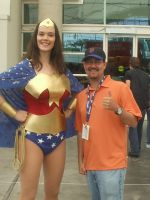Wonder Woman with Cousin Nick by mjac1971