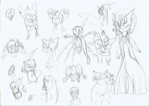 The Searcher sketch dump by TheDragon-Empress