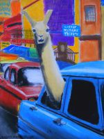 A llama in New York by Jujuly21