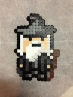 -Perler- Gandalf by OtakuLuka