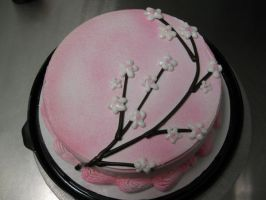 Sakura Flower ice Cream Cake by Yuffie1972