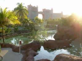 Bahamas: Hotel and Pond by Star-Hanabi