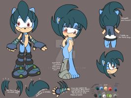 Quill the Porcupine Ref Sheet by Starimo