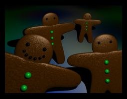 Attack of the Gingerbread Men by yuukie-chan