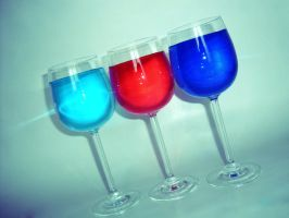 Colored drinks by Vivienne1996