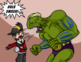 Shiny Machoke - Hulk? by Aviarei
