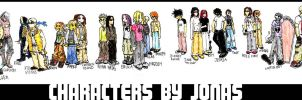 my collection of charas by jonasfx