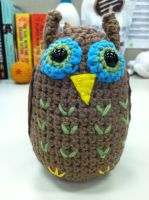 amigurumi owl by NerdStitch