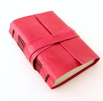 Pink Leather Journal by GatzBcn