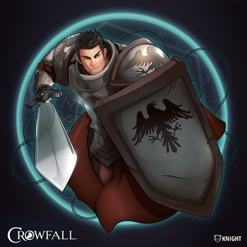 Crowfall Knight Poster by PerfectDork