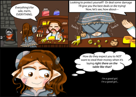 Skyrim Comic: Ethics by purplemagechan