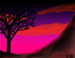 A tree at sundown by willplay1a