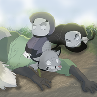 Mamanta, Kilis,and the Kitsune by WeisseEdelweiss