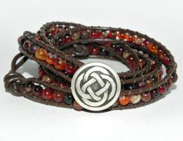 The Galway Girl, 4 Wrap Bracelet by Secretvixen