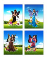 my butterfly girls by alienbiru