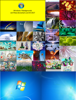 Windows 7 Backgrounds by WIN7TBAR