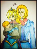 Elsa, Alrik and Sabre by Jet-Black-Scars