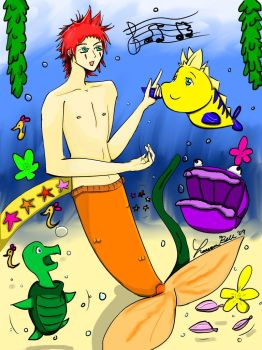 Axel Under the Sea by spunkyoshi