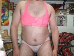 pink sports bra and stars patterned panties by aet256