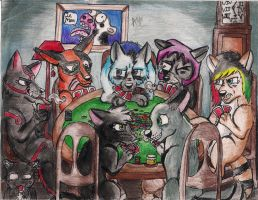 Some Jerks and a Card Table. by ViciousWeasel