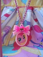 Pinkie Pie Cameo Necklace by lessthan3chrissy