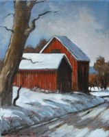 Study Of Snow Oil Paint ! by Boias