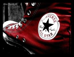 Red converse all star shoes by thomt13