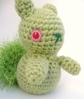 zombie squirrel amigurumi by e1fy