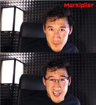 Mark with and without glasses. by BigDumpDoofyDoo