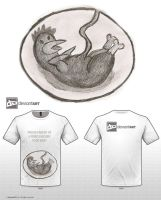 FRIED CHICKEN FOOD BABY SHIRT by Arsehole
