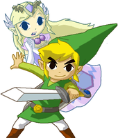 The Legend Of Zelda Pixel Over by SPARKSTERZS
