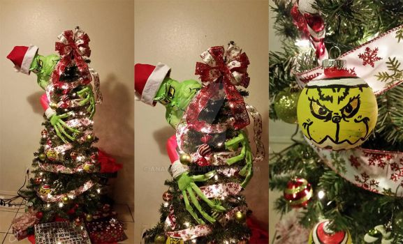 Grinch-themed Christmas Tree by anaisgomez