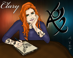 TMI: Art time by Clary Fray by be-nice