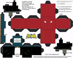 DC SH 6: The Red Hood II Cubee by TheFlyingDachshund