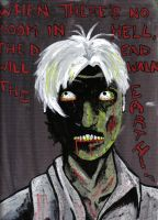 Random Zombie Painting by JamesRiot