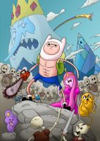 Adventure Time Army of Darkness Coloured by WaterLily-Gems