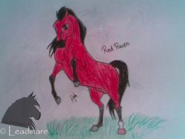 Red Raven art by Leadmare
