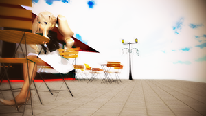 MMD Lonely cafe. by crazyskatergurl