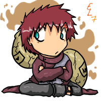 -Chibi Gaara fail- by DiachanX