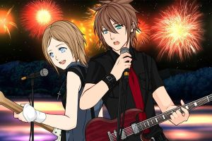 Me And Gem Rocking Out by V1EWT1FUL