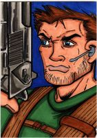 Chris Redfield sketchcard by The-Standard