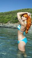 Nami 2YL One Piece Beach version by Miho-Shizue