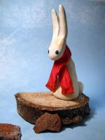 Red Scarf Bunny by MaryBunnie