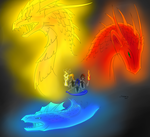 tripple dragons by Ferania