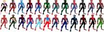 My Spider-Man suit Collection by stick-man-11