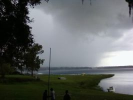 Storm at a lake 2 by Kal-Venku